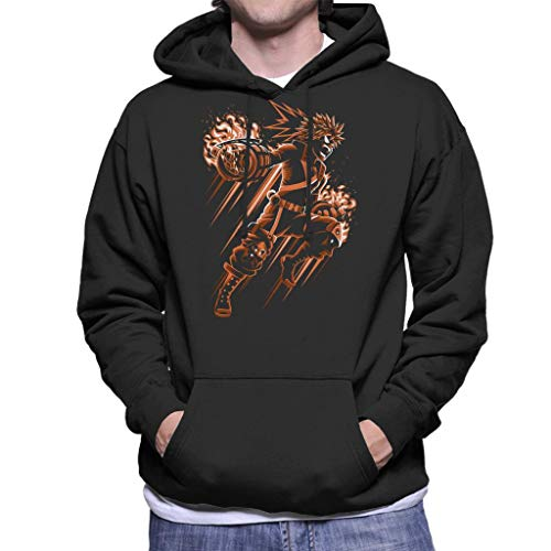 Cloud City 7 Battle Fire My Hero Academia Men's Hooded Sweatshirt