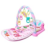 OLOPE Baby Gym Play Mats,Deluxe Kick 'n Play Piano Gym,Kick and Play Piano Gym Activity Center for Infants (B)