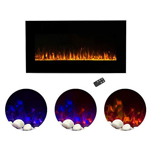 Home Electric Fireplace Wall Mounted LED Fire and Ice Flame, with Remote 36 inch by Northwest, 36