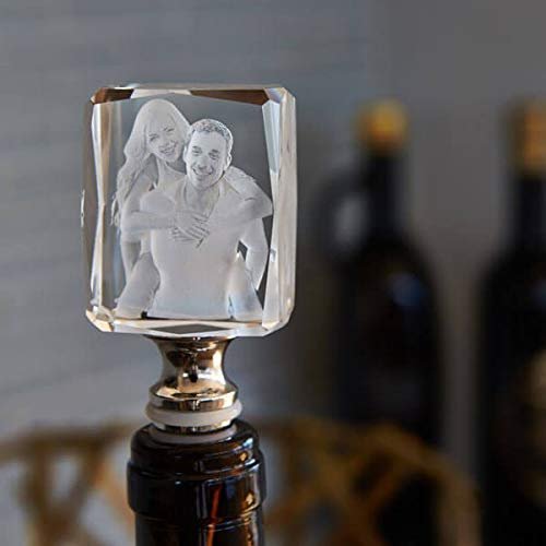 Wine Stopper - Unique 3D Customized Crystal Gift for Alcohol Lovers