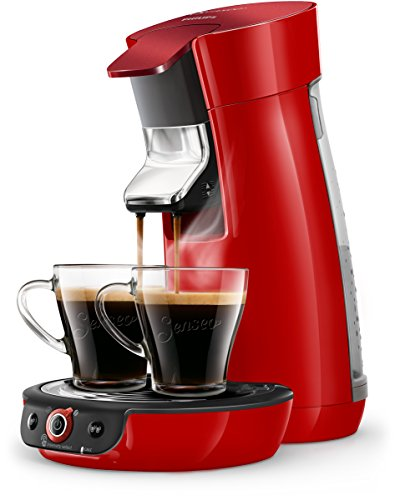 Philips Senseo HD6564/80 Viva Café Kaffeepadmaschine, 1450, Rot