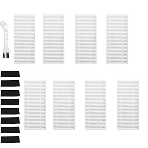 Fantisi Filtro HEPA 8 piezas para OKP K7 K8 Robot Aspirador Accesorios (con filtros de esponja negra, 1 cepillo de limpieza)