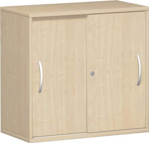 Gera Möbel S-381501-AH schuifdeurkast Mailand 2 OH voor tafels om in te stellen met vloergeleider, 80 x 40 x 72 cm, ahorn