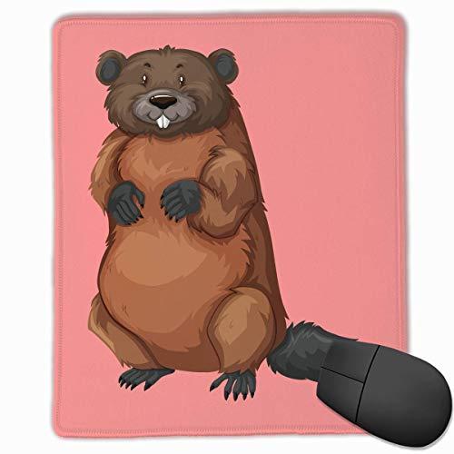 Alfombrilla de ratón Realista de marmota de pie, Alfombrilla de ratón Rectangular, Alfombrilla de ratón para Juegos con Borde de Bloqueo Negro, Alfombrilla de ratón 25X30CM