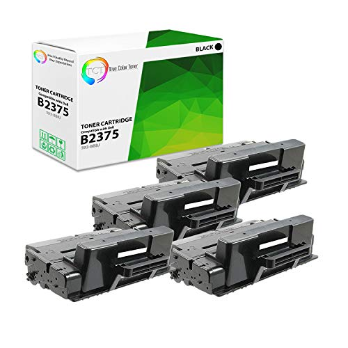 TCT Premium Compatible Toner Cartridge Replacement for Dell 593-BBBJ Black High Yield Works with Dell B2375DNF B2375DFW Printers (10,000 Pages) - 4 Pack