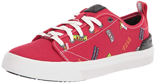 TOMS - Womens Trvl Lite Low Sneaker, 6 UK, Red Marvel Logos P