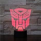 Led Nachtlichter 3D, Transformatoren Modell 3D Led Nachtlicht Wechsellampe Weihnachtslicht Acryl Illusion Schreibtischlampe Für Kinder Geschenk