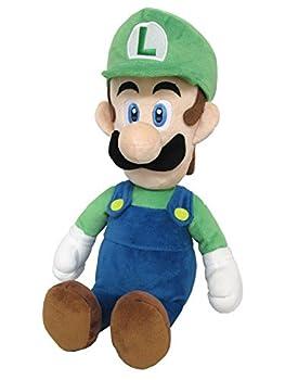 Little Buddy 1584 Super Mario All Star Collection - 1584 - Luigi Medium Stuffed Plush 15  Multi-Colored