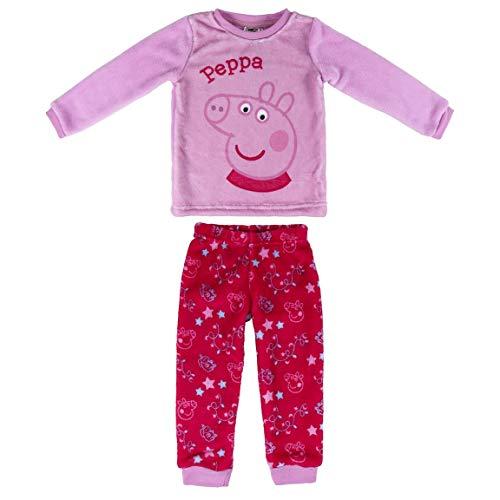 Artesania Cerda Pijama Largo Coral Peppa Pig Conjuntos, Rosa (Rosa C07), 4 Años para Niñas