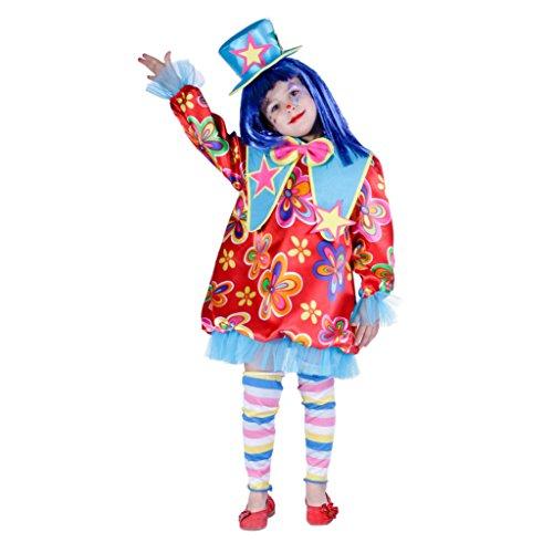 Disfraz de payasita para niña - 9-11 años