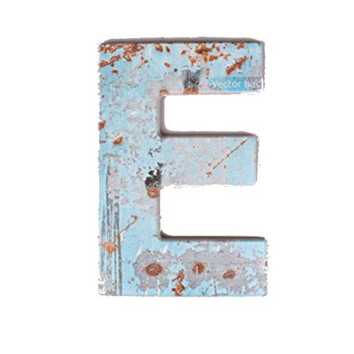 Vu Ken 20' Letters Home Decor, Large Retro Wooden Hanging/Placing Decorative Letters for Photography/Home/Bar/Cafe/Bookstore (E)