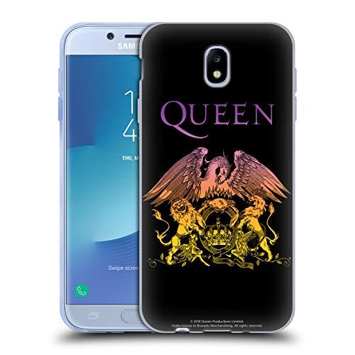 Head Case Designs Licenza Ufficiale Queen Logo Cresta Bohemian Rhapsody Cover in Morbido Gel Compatibile con Samsung Galaxy J7 2017 / PRO