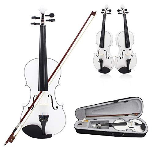 BLKykll 4/4 Violine Fiddle Basswood Stahlsaiten Arbor Bogen Saiteninstrument für Musikfreunde Anfänger,3/4