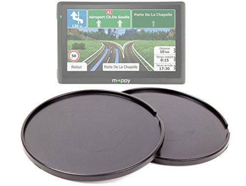 DURAGADGET Lot de Deux disques Ultra adhésifs, léger et résistant pour GPS Mappy Ulti 546 Europe, Ulti S547 FM et E528s, Garmin Nuvi 2567 LM Se