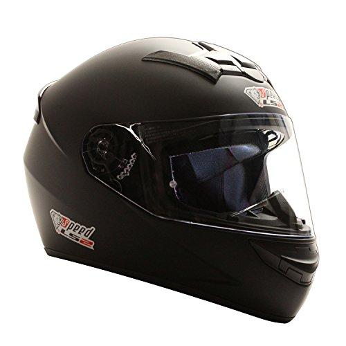 Speed Racewear LS2 Rookie Integralhelm Schwarz, Matt - Sonderedition Kart & Motorradhelm (XXS (51-52cm))