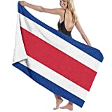 N/A Costa Rica Flag 100% Polyester Large, Suitable for Hotel, Swimming Pool, Gym, Beach, Natural, Soft, Quick Drying
