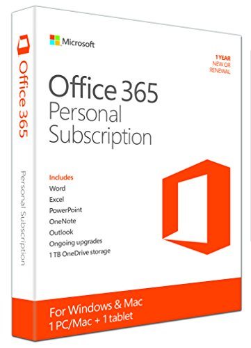Microsoft Office 365 Personal 1usuario(s) 1año(s) Inglés - Suites de programas (1 año(s), Inglés, Windows 7 Home Basic,Windows 7 Home Basic x64,Windows 7 Home Premium,Windows 7 Home Premium x64,Wind, Mac OS X 10.10 Yosemite,Mac OS X 10.6 Snow Leopard,Mac OS X 10.7 Lion,Mac OS X 10.8 Mountain Lion,Ma, 3000 MB, 1024 MB)