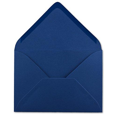 50 DIN C5 Briefumschläge Nachtblau - 22,0 x 15,4 cm - 110 g/m² Nassklebung Post-Umschläge ohne Fenster ideal für Weihnachten Grußkarten Einladungen von Ihrem Glüxx-Agent