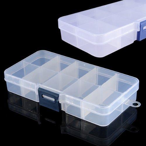Demarkt 2 X Boîte Plastique transparent Vide Rangement Faux Ongles Capsule Nail Art Manucure Plastique Stockage