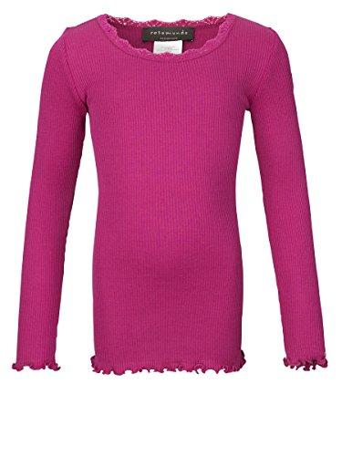 Rosemunde - Camiseta de Manga Larga - Básico - Manga Larga - para niña Rosa Pink (340 Light Cherry)