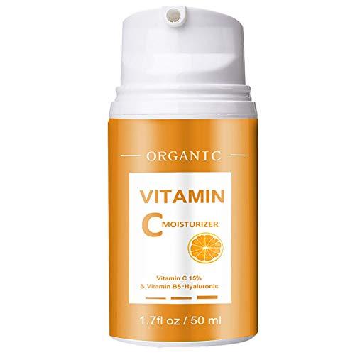 Face Moisturizer-Vitamin C Moisturizer-Anti Aging Daily Facial Cream for Hydration, Wrinkles, Soft Skin-Moisturizing Facial Lightweight Cream for Men & Women-1.7 fl oz