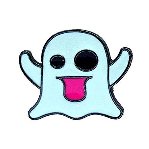 Cosanter Broche fantasma de dibujos animados de Halloween, Accesorios de Ropa Sombrero Suéter Bufanda Decoración Halloween Regalo (A) 2,3 x 1,8 cm