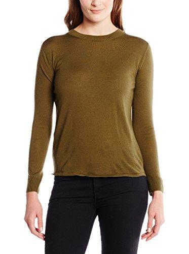 Stefanel Damen Feinstrick-Pullover freiem Rückenausschnitt