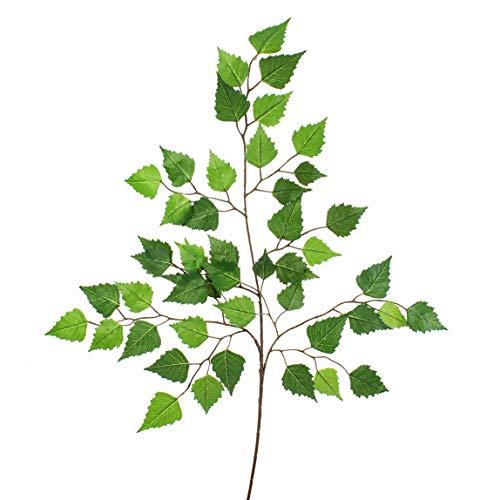 artplants.de Künstlicher Birkenzweig, 48 Blätter, 70cm - Dekozweig