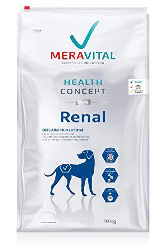 MERAVITAL Renal Hundefutter trocken 10 kg für Hunde bei Nierenerkrankungen - Niedriger Gehalt hochwertiger Proteine zur Entlastung der Nierenfunktion
