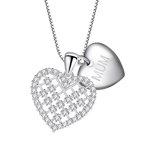 ABOOFAN Collar Zircon Corazón Colgante Regalo Accesorio Letra Collar Joyería para Vestir Adornos