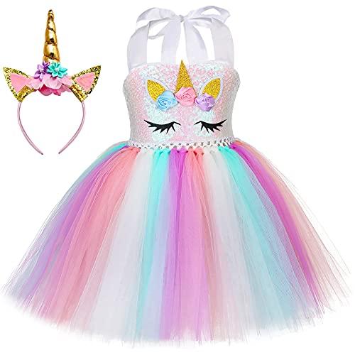 Unicorn Tutu Dress (With Headband)