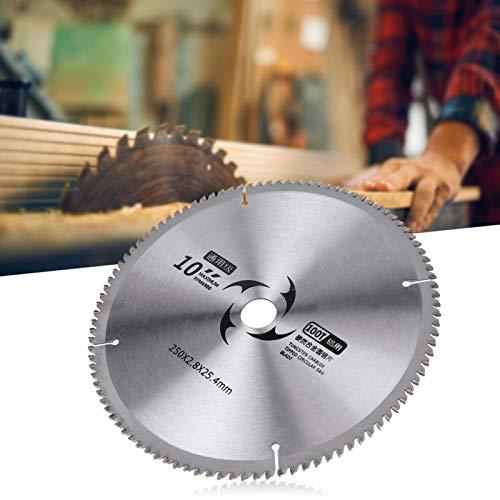Discos de corte redondos de 9,8 x 0,09 x 1 pulgada Hoja de corte de sierra Hoja de corte de sierra circular 100T 120T Dientes opcionales con junta para procesamiento de madera(100T)