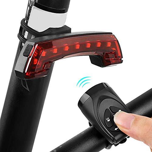 Fietsachterlicht, 120dB USB-oplaadfiets Achterlicht Achterlicht Waarschuwingslamp met hoorn Fietsaccessoire, Fietslicht met hoge helderheid