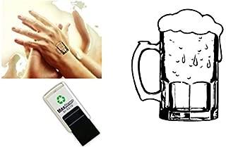 Stempel Adressstempel /« BIERGL/ÄSER /» Durchmesser ca Motiv und Zierrand /Ø 40 mm mit pers/önlicher Adresse Biergarten Bierbrauerei Brauerei Bierbrauer