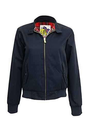 Harrington Damen Jacke,Blau (Marineblau), XL