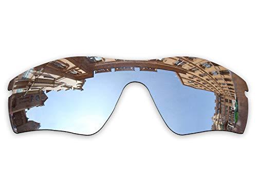 Vonxyz Lenses Replacement for Oakley Radar Path Sunglass - Chrome MirrorCoat Polarized