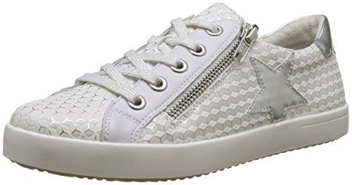 Rieker Kinder Mädchen K5201 Sneaker, Weiß (Weiss-Silber/Silber/Argento), 33 EU