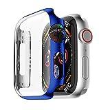 Yrzper Compatibile con Apple Watch SE Series 6 5 4 44 mm 40 mm i Watch custodia protettiva ultra sottile PC custodia protettiva Case Case per Apple iWatch 40 mm/44 mm Blu 44