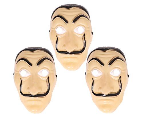 Maschera per adulti Salvador Dali – Costume da caccia per Halloween, confezione da 3
