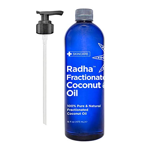 Radha Beauty Fractionated Coconut Oil - 100% Pure & Natural Carrier and Base Oil for Aromatherapy,...