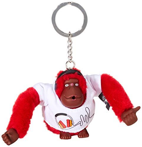 Kipling Headset Monkey - Portachiavi ad anello e catena Donna, Multicolore (Headset), 1x1x1 cm (B x H T)
