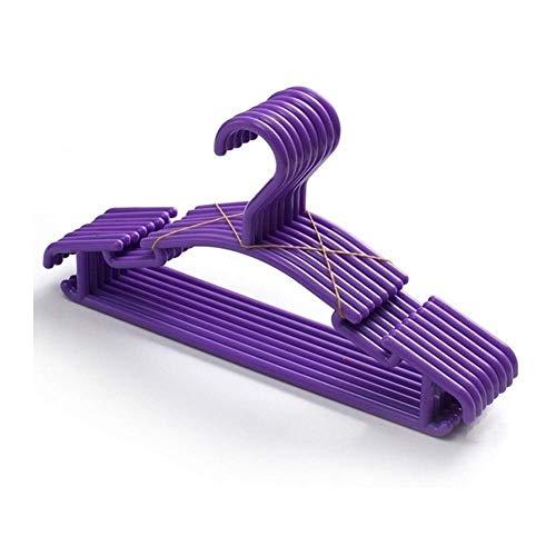 GWFVA 10 unids/Lote Percha portátil niños niños niño bebé Ropa Abrigo plástico Perchas Gancho hogar Dropshipping (Color: púrpura)