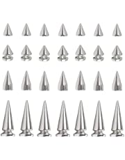 Sweieoni Metalen Bullet Klinknagel 170 Stks Klinknagel Punk Spike Punk Spikes Klinknagel Cone Spikes Stud Spike Studs voor Lederen Jas Tassen met Schroefback Studs (7*10mm, 7*14mm, 8*12mm, 10*25mm)