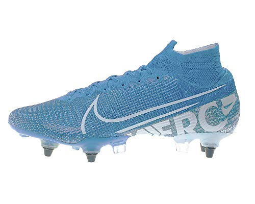 Nike Unisex-Erwachsene Superfly 7 Elite Sg-pro Ac Fußballschuhe, Mehrfarbig (Blue Hero/White-Volt-Obsidian 414), 42 EU