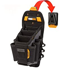 ✔️ CONVENIENCE - 15 pocket bag / tool-belts, 3 strong pockets fit long pliers or driver, Heavy-Duty Tool Organizer / Container ✔️ DURABLE - Case Holder - Combo with nail, wrench, utility knife, drill, phone, flashlight, leather ✔️ SECURE & CONVENIENT...