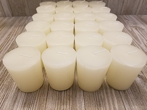 Old Candle Barn 24-Piece Votive Candles - Lily of The Valley Scented 15 Hour - Perfect Ivory Votives - Hand Poured Made in USA