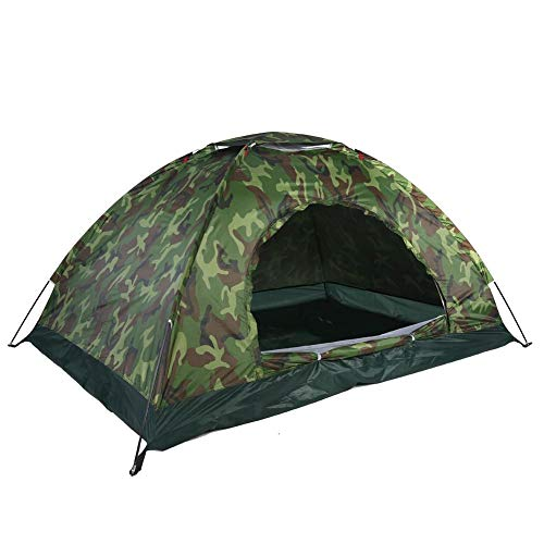 VGEBY1 Camping Tent, Outdoor Shelter Camouflage 40+UV Bescherming Waterdicht 2 Personen Tent voor Camping Wandelen