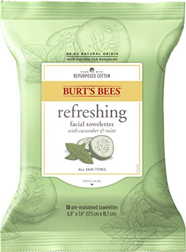 Product Image of the Burt's Bees Sensitive Facial Cleansing Towelettes with Cucumber and Sage - 30...