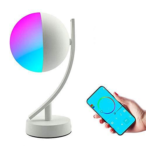 RGB LED Schreibtisch Schreibtischlampen 7w Smart Voice LED Steuerung Wifi App Remote Dimmbare Schlafzimmer Tisch Nachtlichter arbeiten mit Alexa Google Home