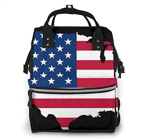 Diaper Bag Backpack Travel Bag Large Multifunction Waterproof American USA Flag3 Stylish and Durable Nappy Bag for Baby Care School Backpack